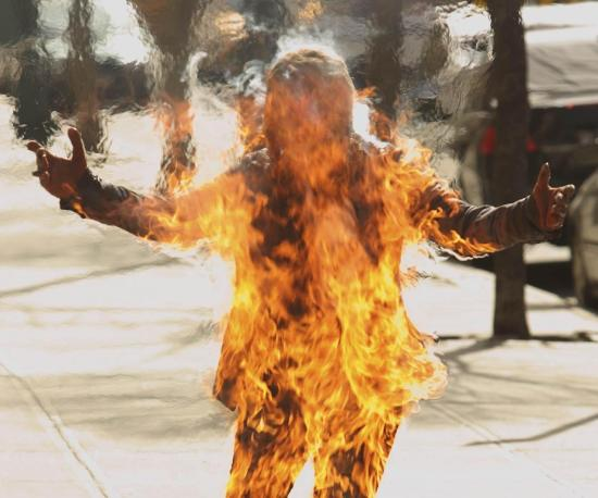 Самовозгорание человека редкий феномен