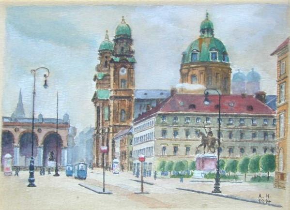 Картины Адольфа Гитлера (22 фото)