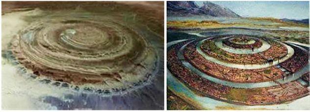 Структура Ришат в Сахаре это остатки древней Атлантиды?
