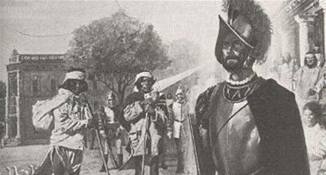 Телепортация Хиля Переса, солдата испанской дворцовой гвардии.