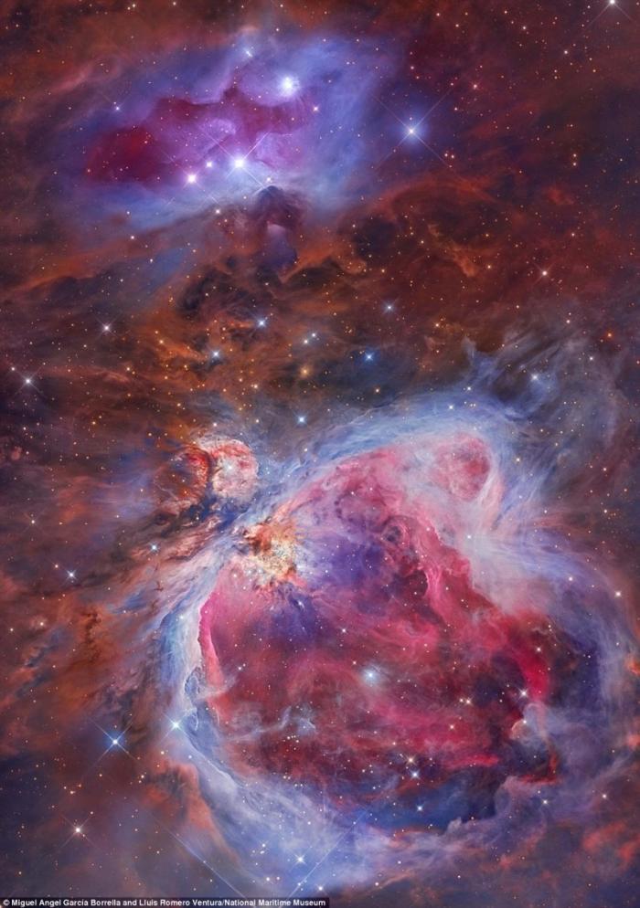 Туманность Ориона. Мигель Энджел Гарсия Борелла и Луис Ромеро Вентура, Испания. астрономия, конкурс, космос, красиво, лучшее, планеты, фото, фотографы