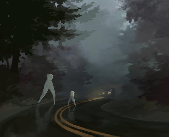 """""""Бледный ползун"""": Наблюдения существ, похожих на худого белого гуманоида на четвереньках (4 фото + 2 видео)"""