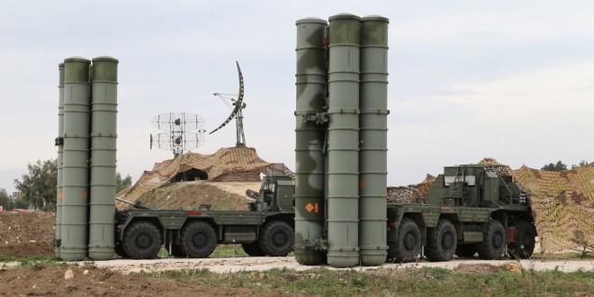 Работа противовоздушной системы С-400