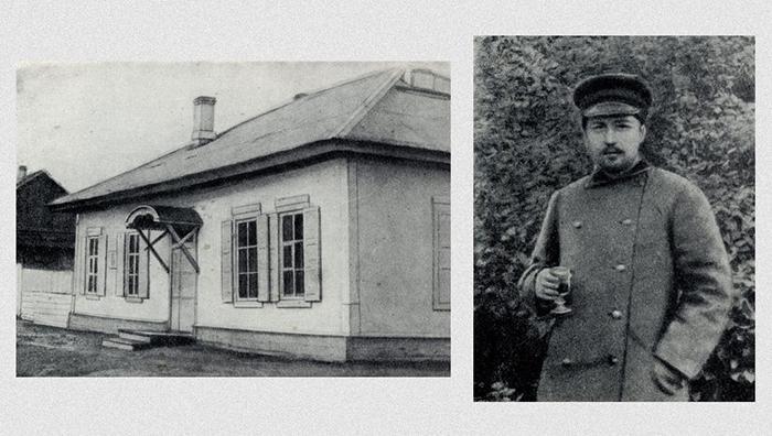 Чехов на Сахалине. Домик, в котором жил писатель.