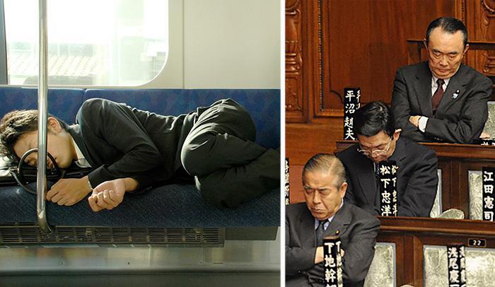 Инемури — искусство японцев спать везде, всегда и при любых обстоятельствах.