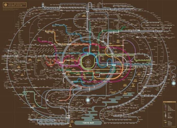 Токийское метро очень разветвленное. Нет - РАЗВЕТВЛЕННОЕ! XXII век, вперед в будущее, интересно, познавательно, прогресс, удивительное рядом, япония, японские реалии