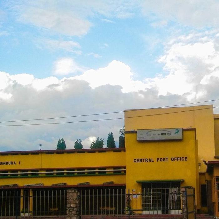 Здание почты в Бужумбре Бужумбура, Бурунди, Центральная Африка, африка, бедные страны, города Африки, нищие страны