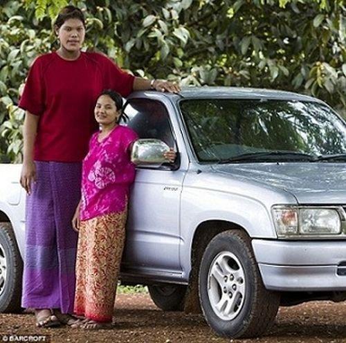 Мали Дуангди, Таиланд, 210 сантиметров в мире, высота, девушки, люди, размер, рост
