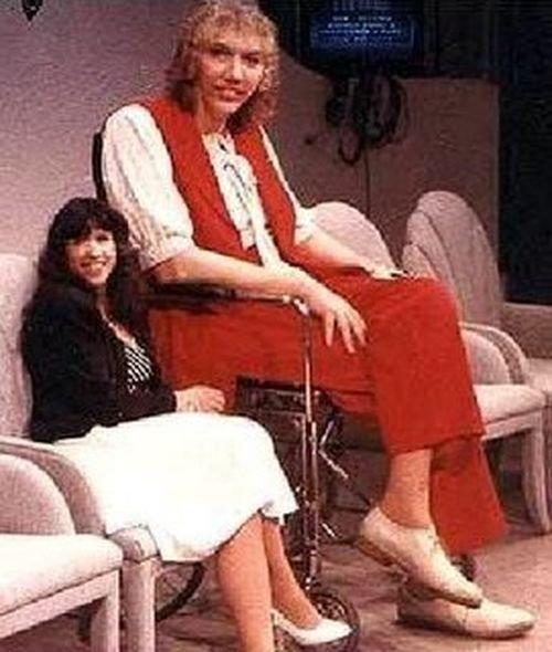 Сэнди Аллен, США, 231 сантиметр в мире, высота, девушки, люди, размер, рост