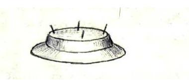 Дисковидный магнитолёт Ø 150-200 м, сверху 4 антенны-штыря. Планета Трон, Сириус-А