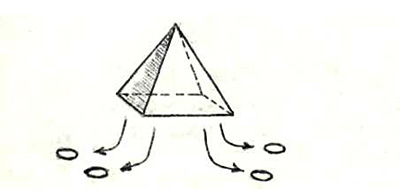 Корабль-носитель в форме пирамиды, длина 500 м, имеет на борту 4 дискоида. Планета Эуллия, созвездие Орион