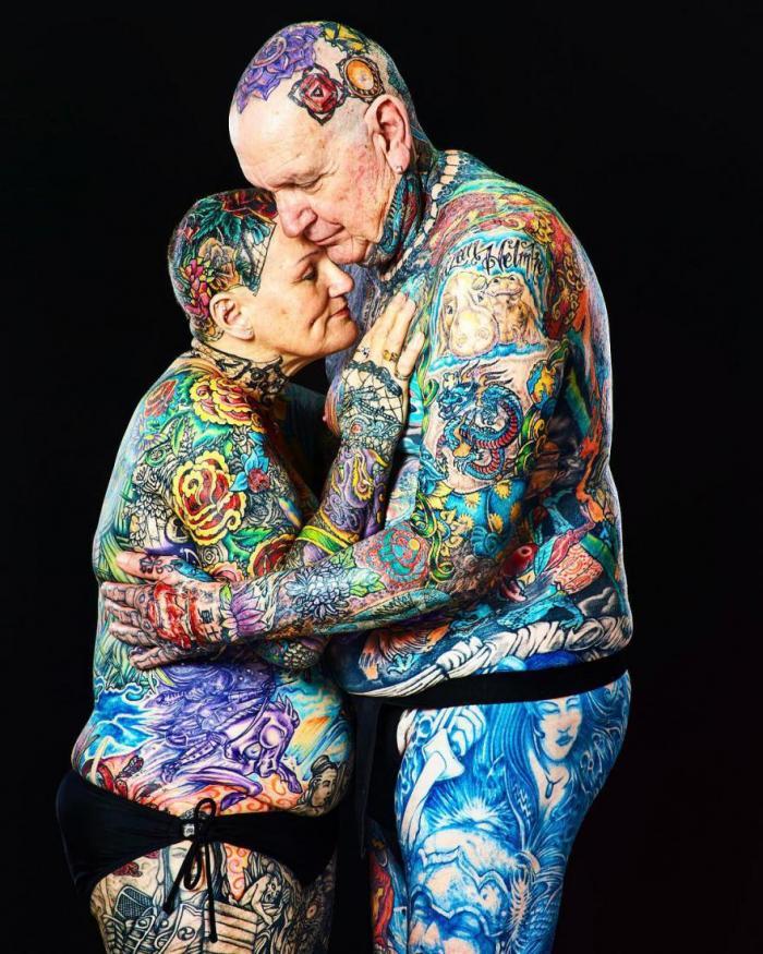 Самые татуированные пенсионеры