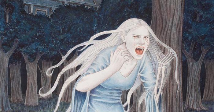 Девушку напугали необъяснимые страшные крики возле ее дома (2 фото)
