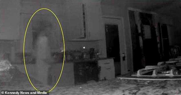 Камера наблюдения в доме американки засняла призрак ее сына, умершего два года назад (3 фото)