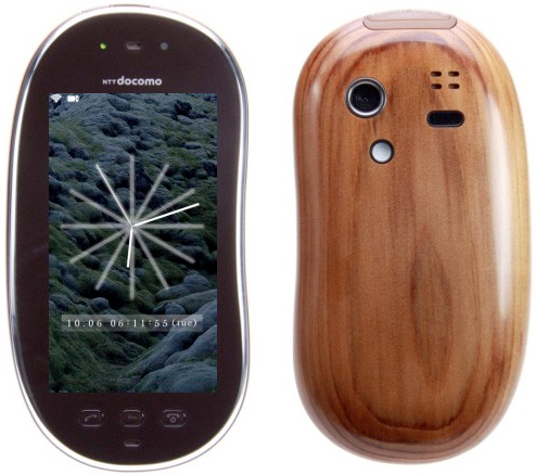 Sharp Touch Wood SH-08C: телефон из древесины