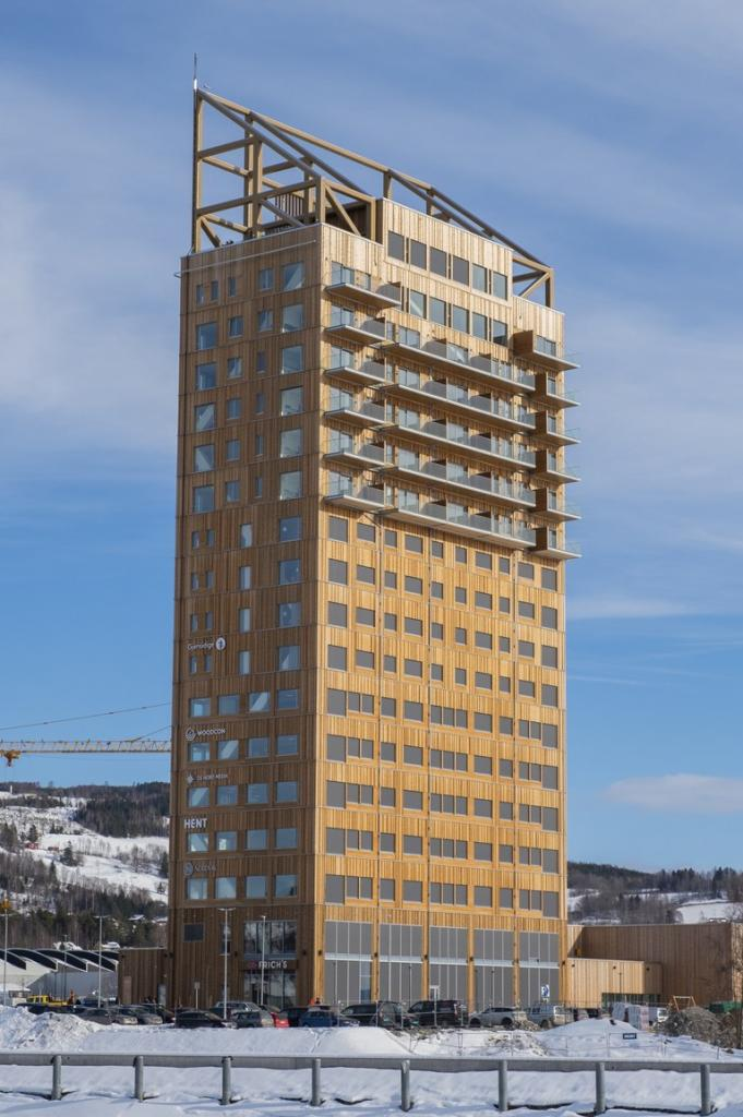 Деревянный небоскреб: в Норвегии построено очень высокое здание из дерева (6 фото + видео)