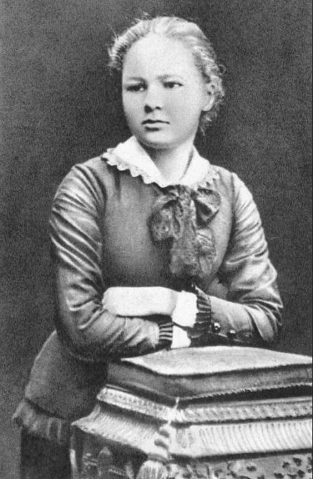 Мария Кюри в 16 лет.