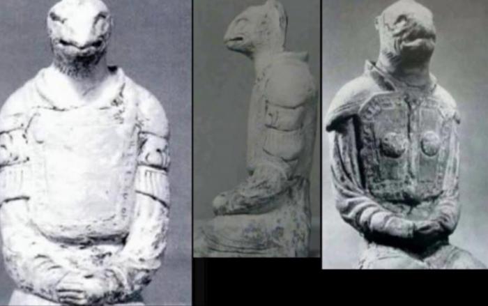 Статуи, изображающие рептилоидов из древнего буддистского храма в Хорюдзи, осели в частной коллекции (14 фото)