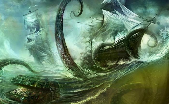 Кракен: огромный спрут из глубин океана