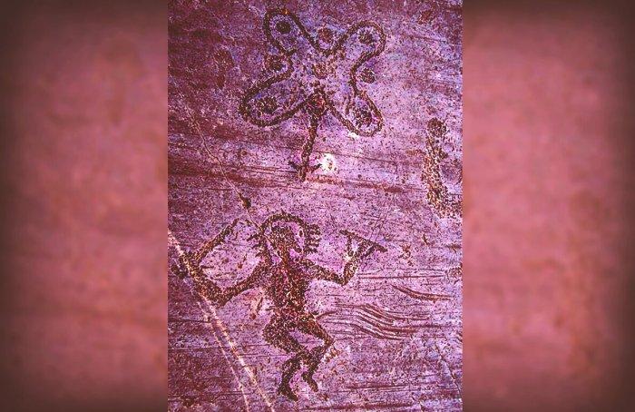 Загадочные изображения древних «астронавтов» из Валь-Камоники