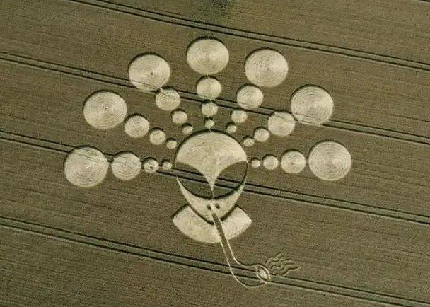 Рисунки инопланетян, высокая сложность исполнения из-за их огромных размеров, месте их изображения и предметов выполнения (15 фото)