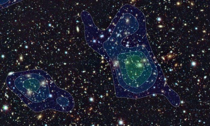Составлена первая подробная карта распределения темной материи во Вcеленной